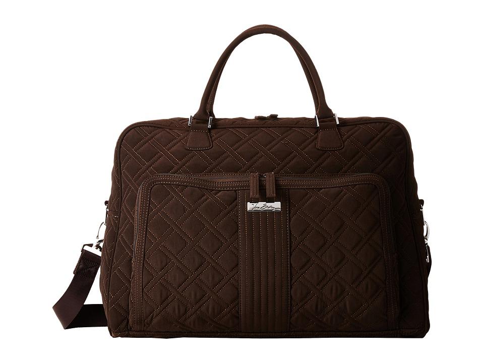 Vera Bradley Luggage - Weekender (Espresso) Duffel Bags