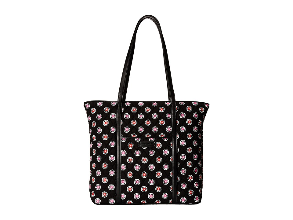 Vera Bradley Luggage - Trimmed Vera (Parisian Pom Poms/Black) Tote Handbags