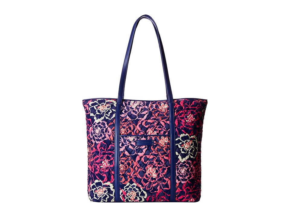 Vera Bradley - Trimmed Vera (Katalina Pink/Navy) Tote Handbags