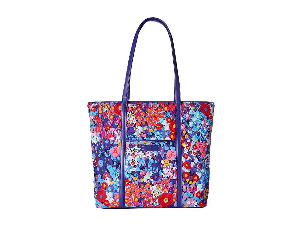 Vera Bradley Luggage - Trimmed Vera (Impressionista/Violet) Tote Handbags