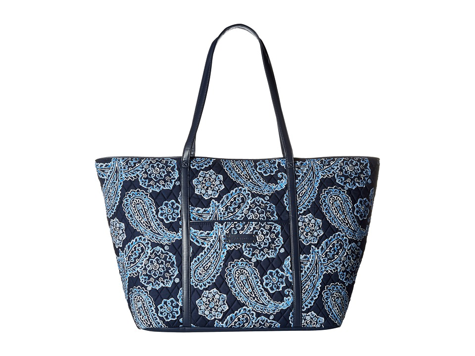 Vera Bradley Luggage - Trimmed Vera Traveler (Blue Bandana/Navy) Luggage