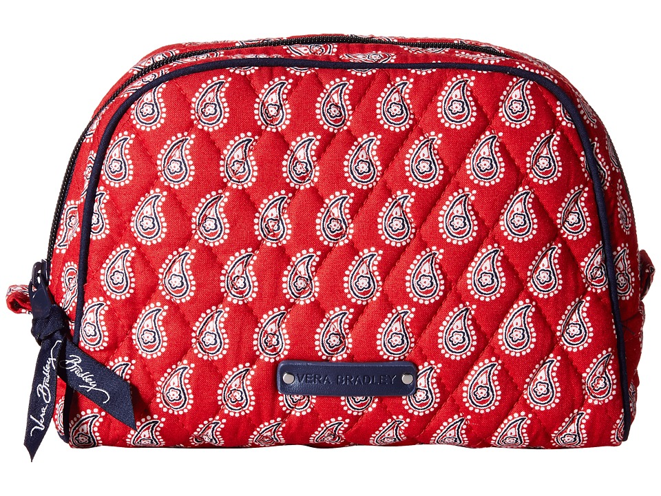 Vera Bradley Luggage - Medium Zip Cosmetic (Petite Red Bandana Paisley) Cosmetic Case