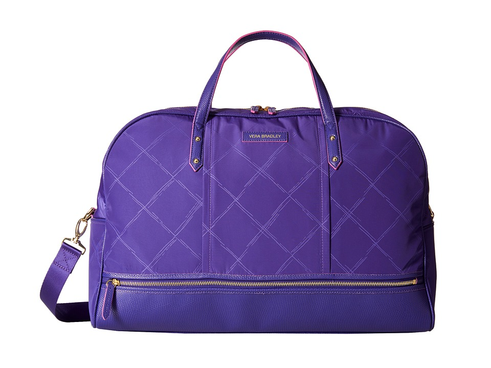 Vera Bradley Luggage - Preppy Poly Travel Bag (Violet) Travel Pouch