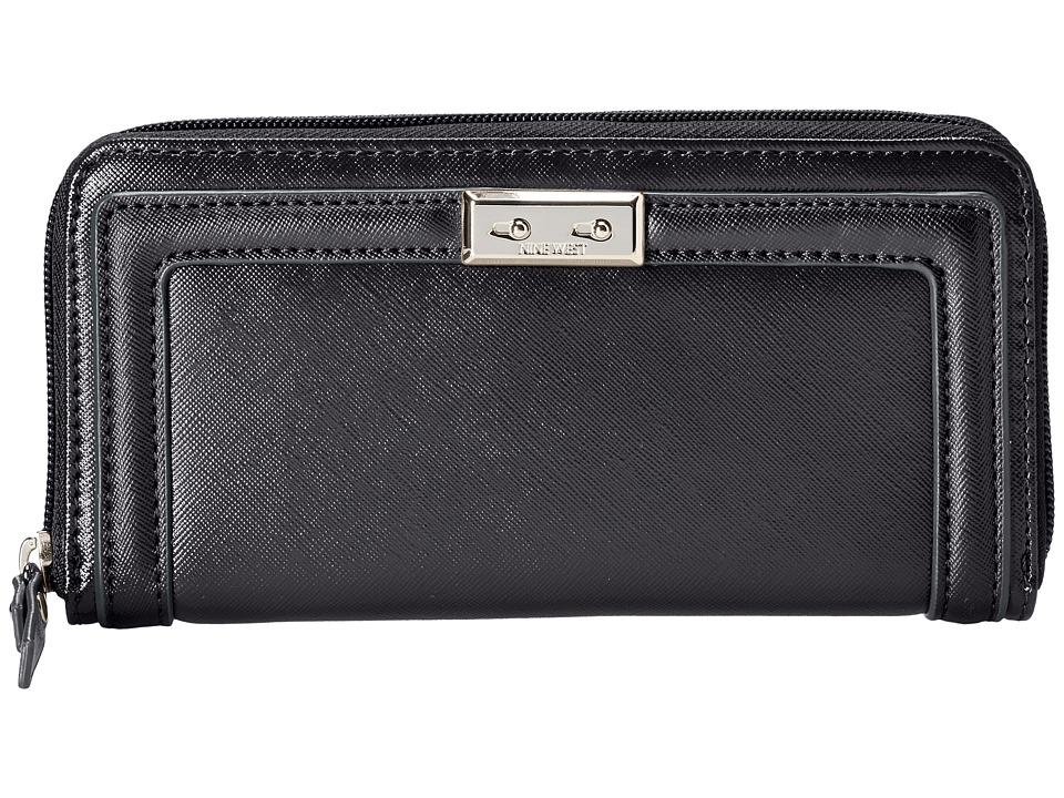 Nine West - Interal Affairs SLG Zip Around (Black) Clutch Handbags