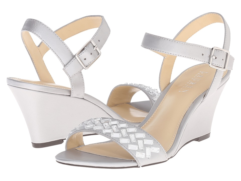 LAUREN Ralph Lauren - Hessa (Silver Pearlized Nappa) Women's Wedge Shoes
