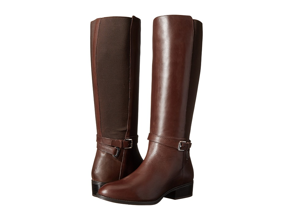 LAUREN Ralph Lauren Meranda (Dark Brown Burn Calf/Elastic) Women