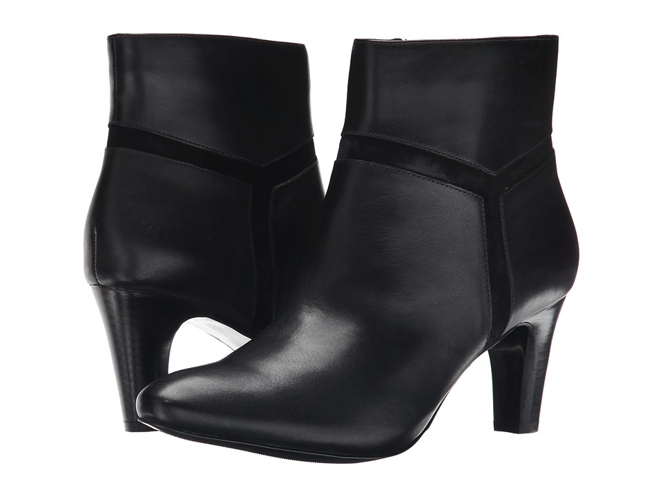 LAUREN Ralph Lauren - Sade (Black Burn Calf/Kid Suede) Women's Zip Boots