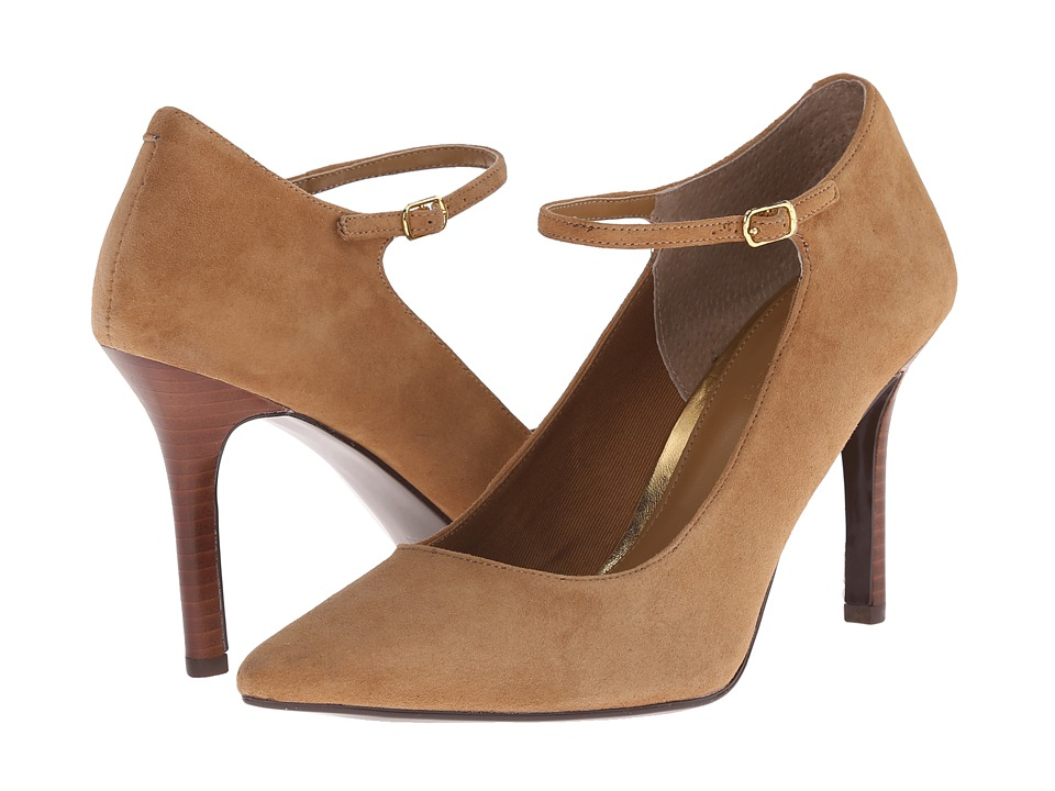 LAUREN by Ralph Lauren - Sage (Camel Kid Suede) Women's 1-2 inch heel Shoes