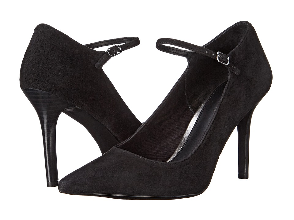 LAUREN by Ralph Lauren - Sage (Black Suede) Women's 1-2 inch heel Shoes