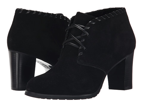 LAUREN by Ralph Lauren - Carla (Black Sport Suede) Women's Lace-up Boots