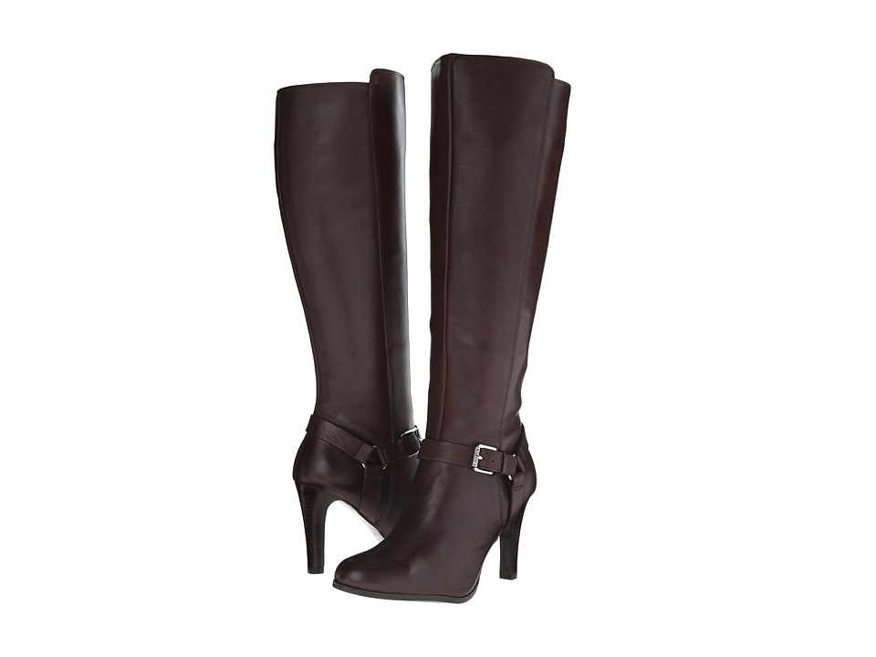 LAUREN Ralph Lauren - Bria (Dark Brown Burnished Calf) Women's Zip Boots