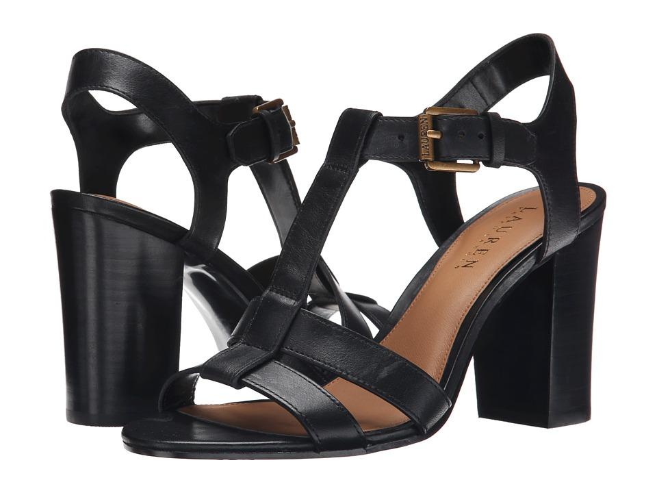 LAUREN Ralph Lauren - Torie (Black Burnished Vachetta) Women's 1-2 inch heel Shoes