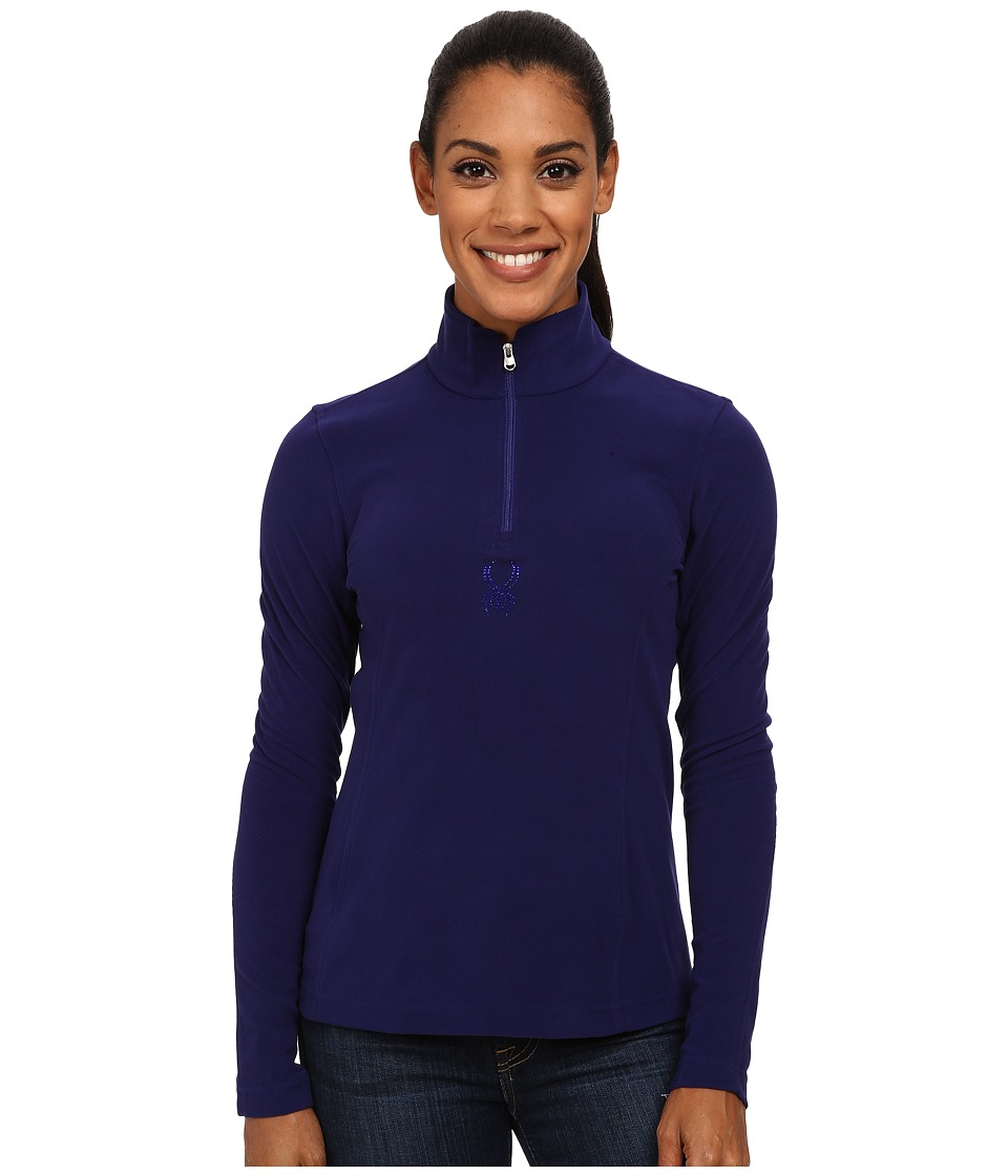 Spyder - Shimmer Bug Velour Fleece T-Neck (Evening) Women's Sweatshirt
