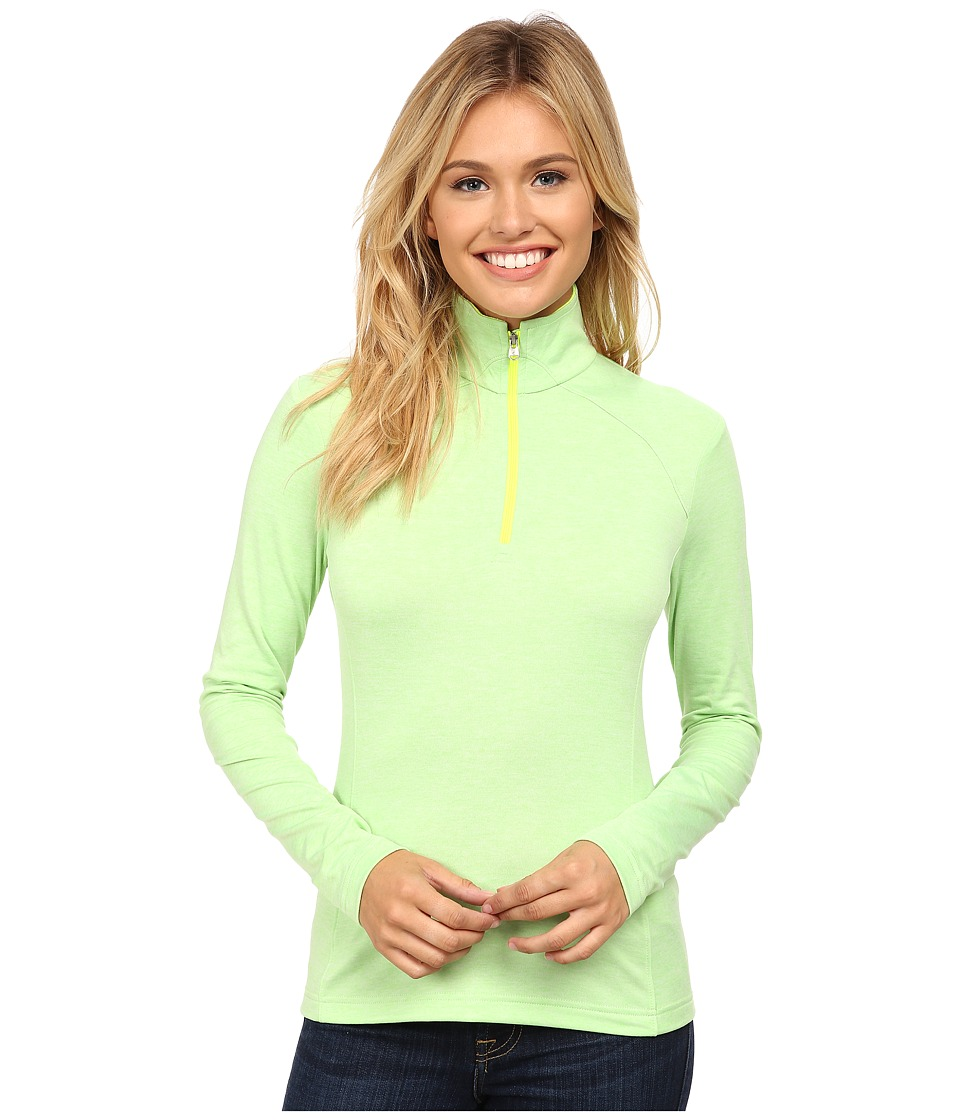 Spyder - Cameo Therma Stretch T-Neck (Green Flash/Bryte Yellow) Women