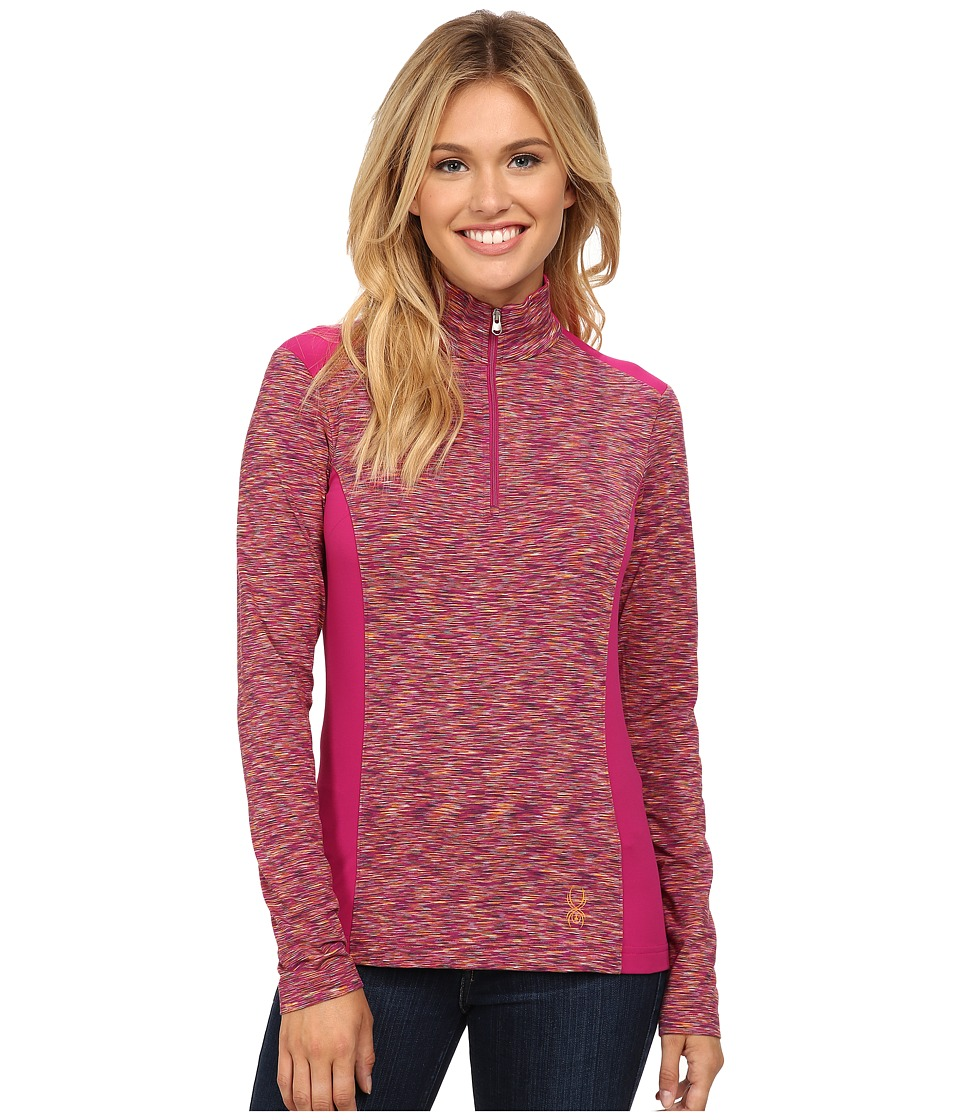 Spyder - Bocca Poly Stretch T-Neck (Wild/Edge/White) Women's Long Sleeve Pullover