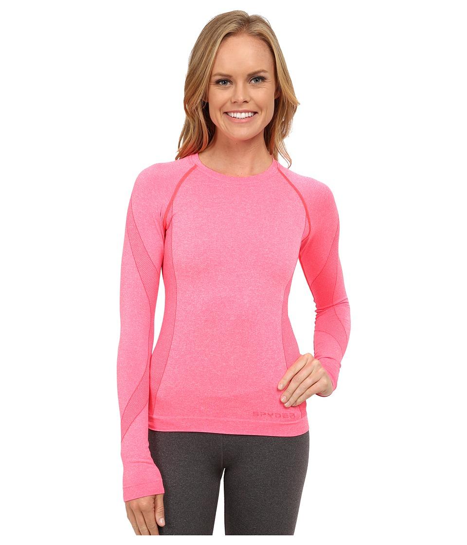 Spyder - Runner Long Sleeve Top (Bryte Pink) Women's Long Sleeve Pullover