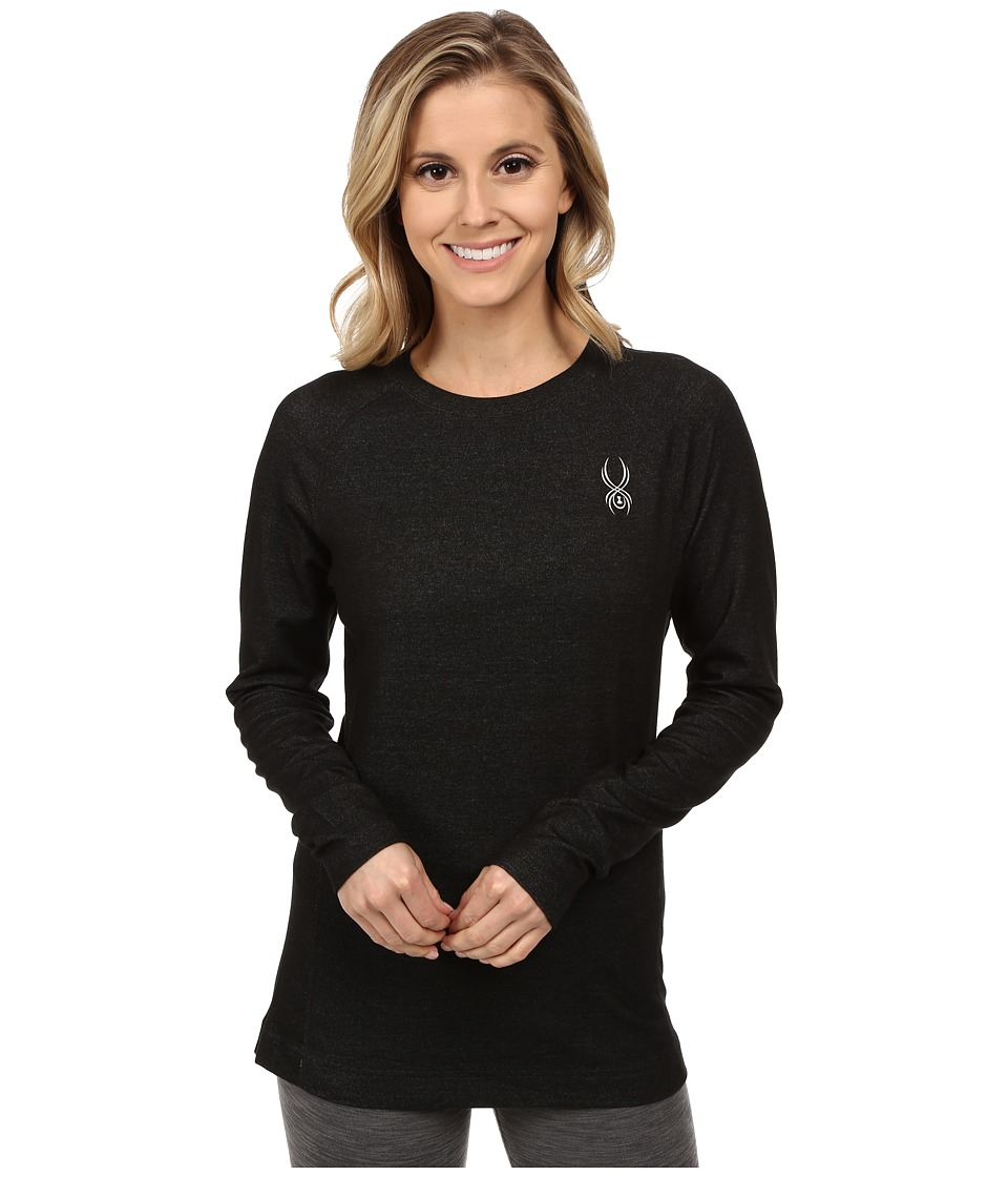 Spyder - Athlete T-Hot Wool Top (Black/Black) Women