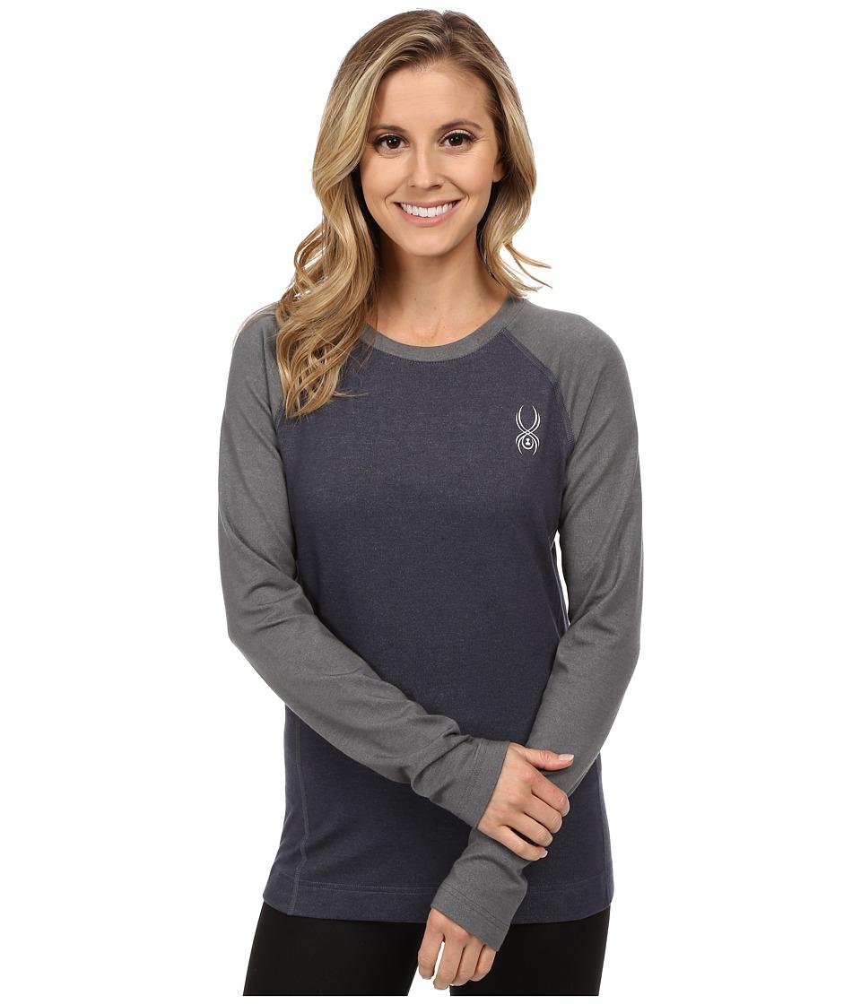 Spyder - Athlete T-Hot Wool Top (Depth/Image Gray) Women's Sweater