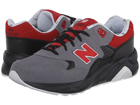 New Balance Kids - KL580 - Deep Freeze (Big Kid) (Grey/Red) Boys Shoes