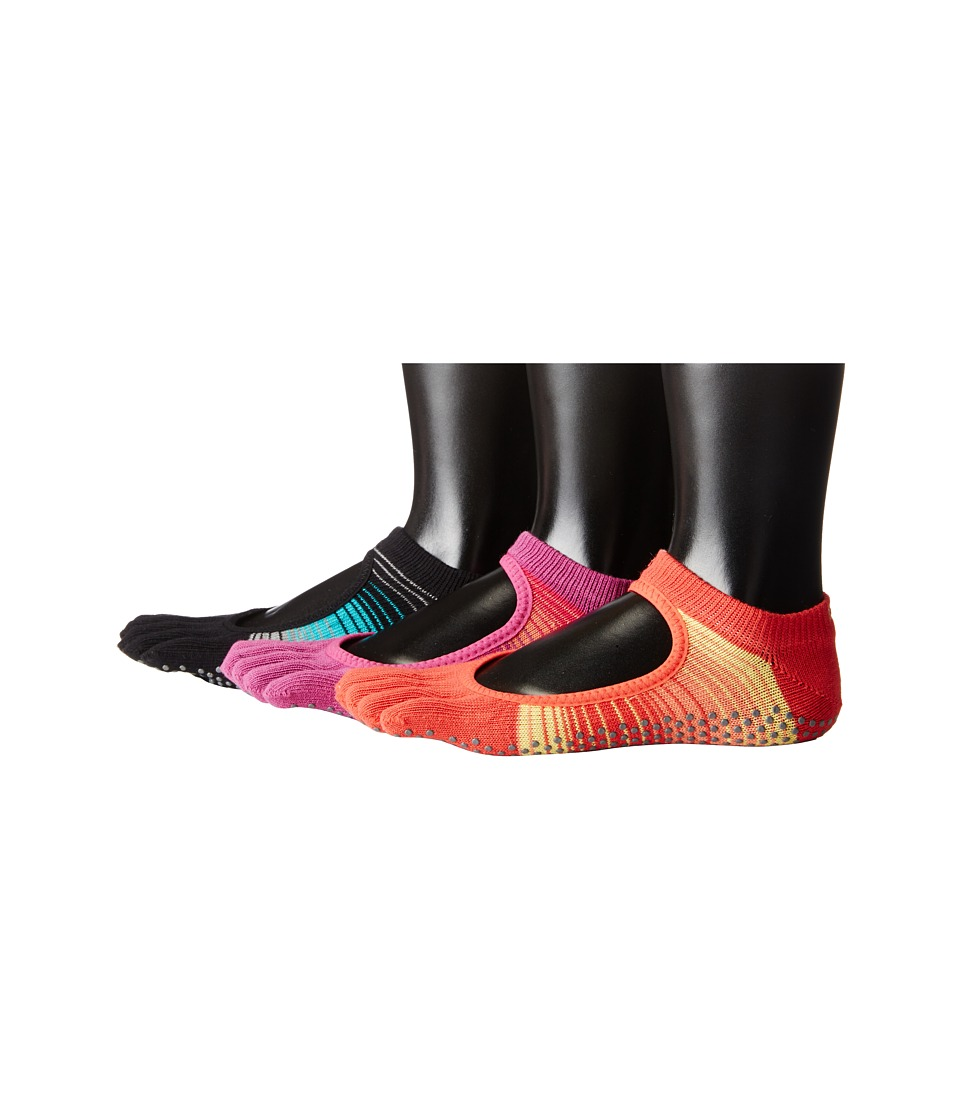 toesox - Bella Full Toe 3-Pack (MoonlightJade/Sunrise/RazzleDazzle) Women's No Show Socks Shoes