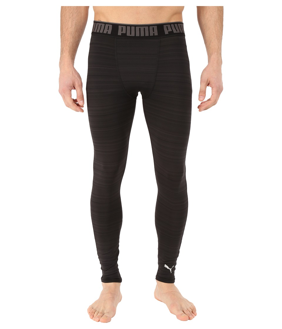 PUMA - Graphic Tights (Black) Men's Workout