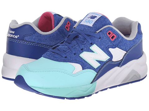 New Balance Kids - KL580 - Deep Freeze (Big Kid) (Blue/Teal) Kids Shoes