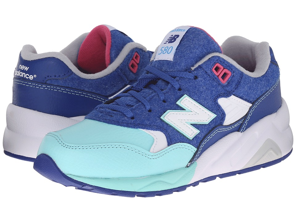 New Balance Kids - Classics 580 (Little Kid) (Blue/Teal) Kids Shoes