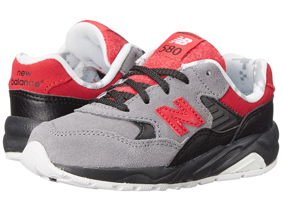 New Balance Kids - Classics 580 (Infant/Toddler) (Grey/Red) Boys Shoes