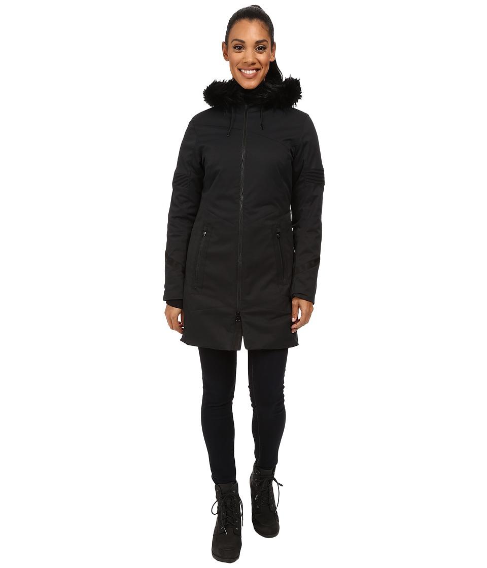 Spyder - Lumyn Faux Fur Synthetic Down Jacket (Black) Women's Coat