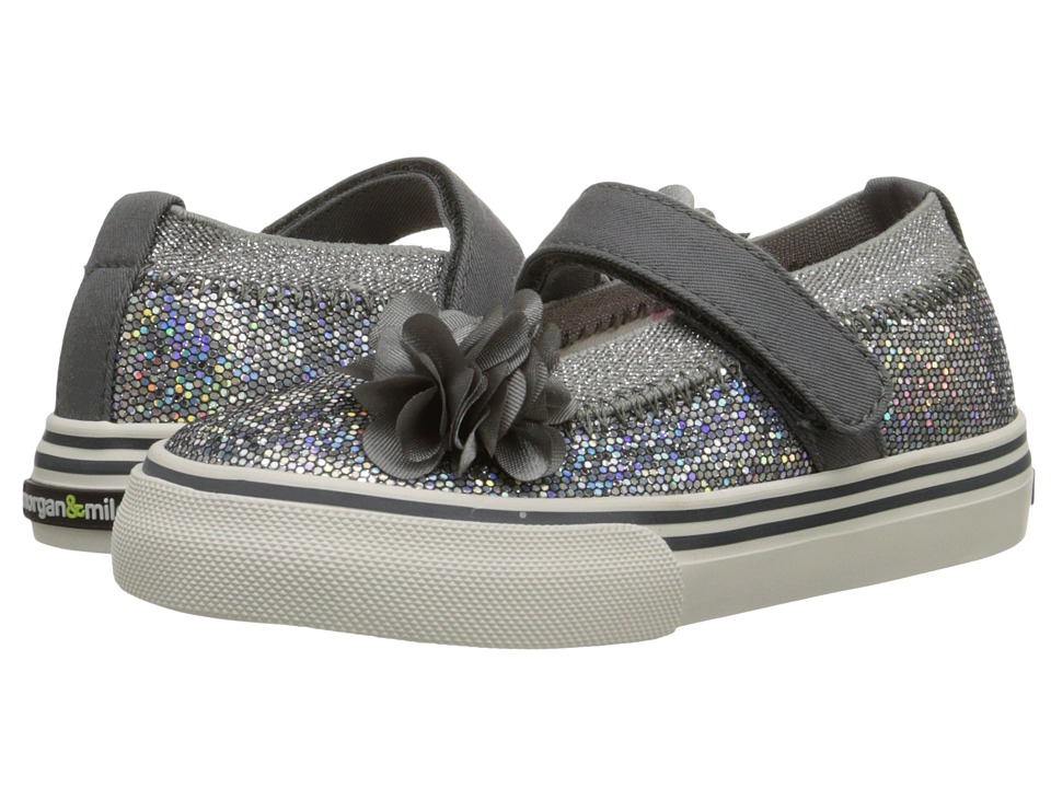 Morgan&Milo Kids - Shimmer Maryjane (Toddler/Little Kid) (Charcoal Grey) Girls Shoes
