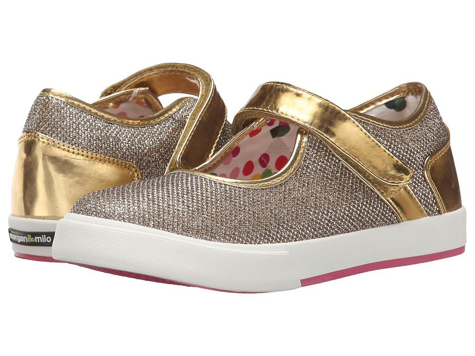 Morgan&Milo Kids - Maddie Sport Sparkle Maryjane (Toddler/Little Kid) (Gold) Girls Shoes