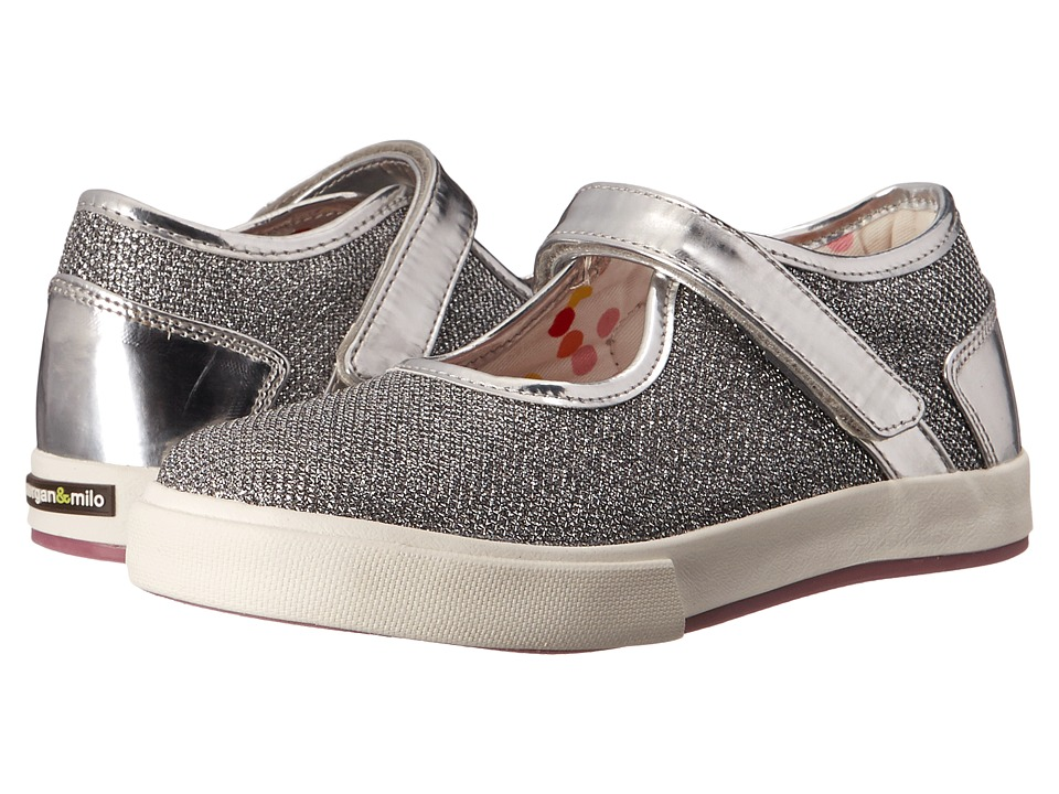 Morgan&Milo Kids - Maddie Sport Sparkle Maryjane (Toddler/Little Kid) (Silver) Girls Shoes
