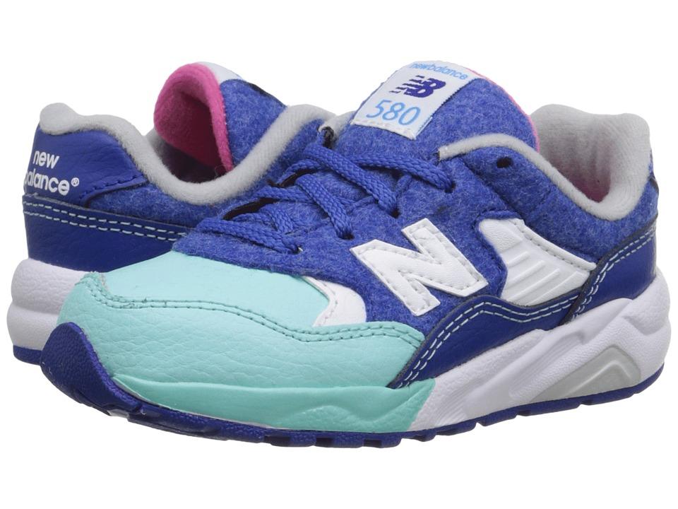 New Balance Kids - KL580 - Deep Freeze (Infant/Toddler) (Blue/Teal) Kids Shoes