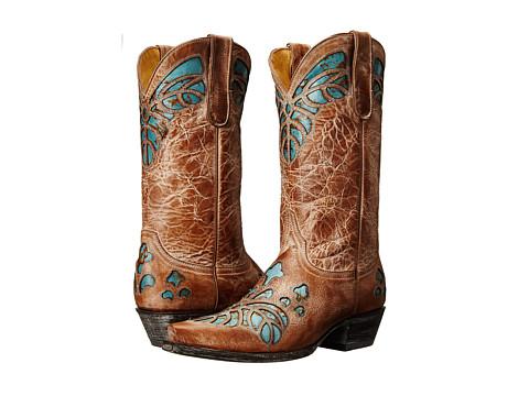 Old Gringo - Mauritia (Beige/Blue) Cowboy Boots