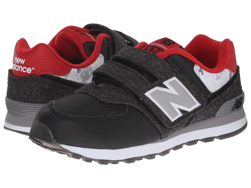 New Balance Kids - KV574 (Little Kid/Big Kid) (Black/Red) Boys Shoes