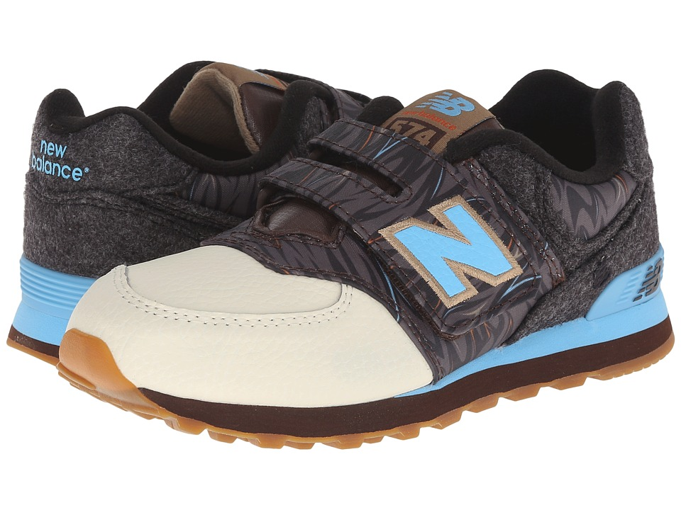 New Balance Kids - KV574 (Little Kid/Big Kid) (Brown/Blue 2) Boys Shoes