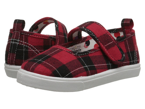 Morgan&Milo Kids - Gracie Maryjane (Toddler/Little Kid) (Red Plaid) Girls Shoes