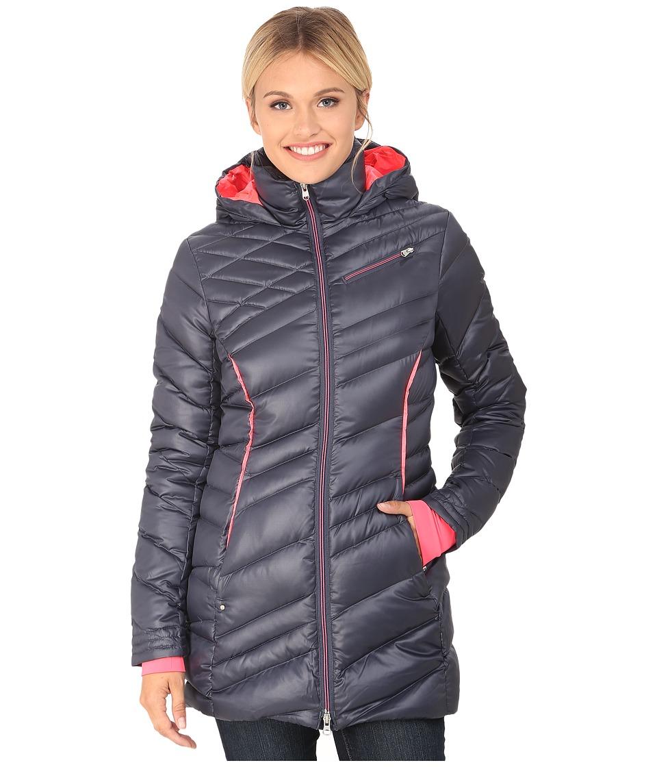 Spyder - Timeless Long Down Jacket (Depth/Bryte Pink) Women