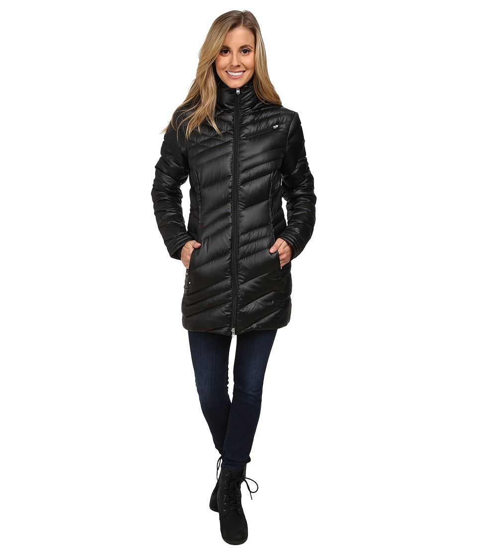 Spyder - Timeless Long Down Jacket (Black/Black) Women