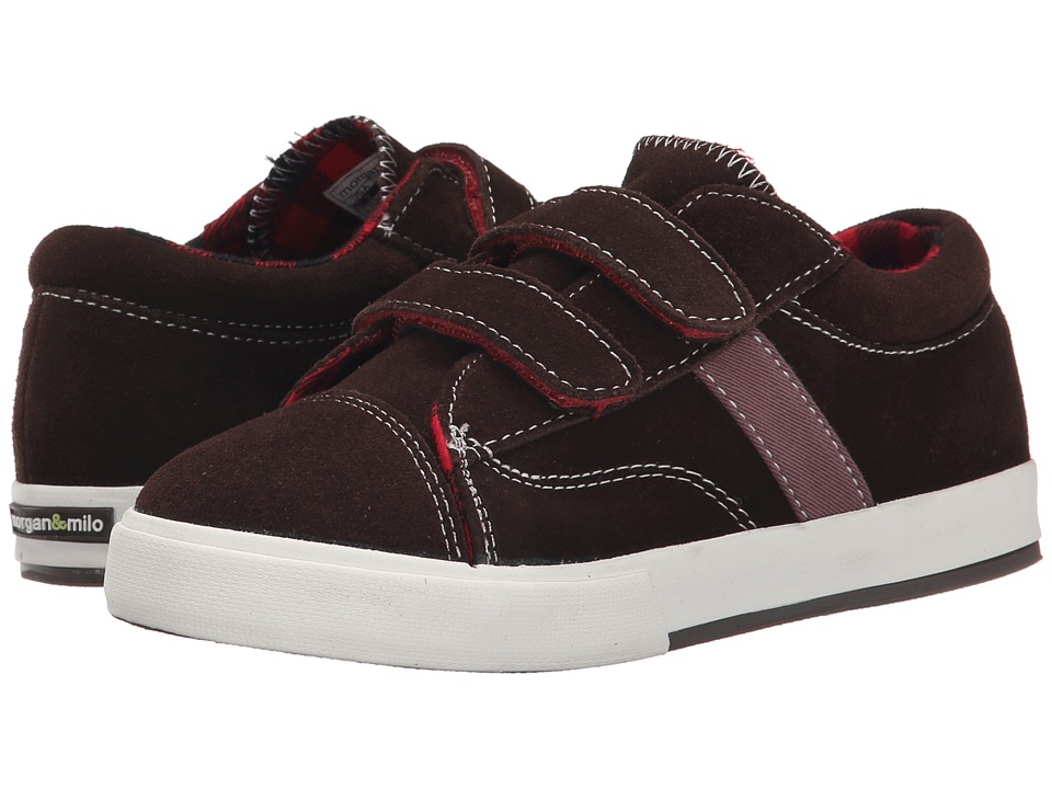 Morgan&Milo Kids - Hudson Double V (Toddler/Little Kid) (Semi-Sweet Chocolate) Boys Shoes