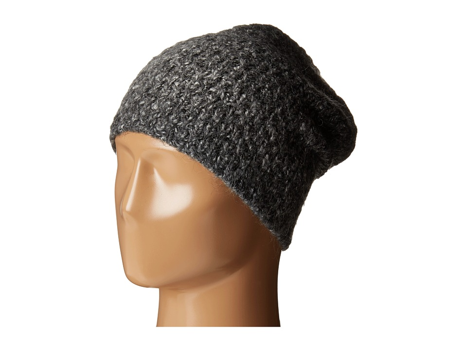 LAUREN Ralph Lauren - Oversized Honeycomb Cuff Hat (Salt/Pepper) Cold Weather Hats