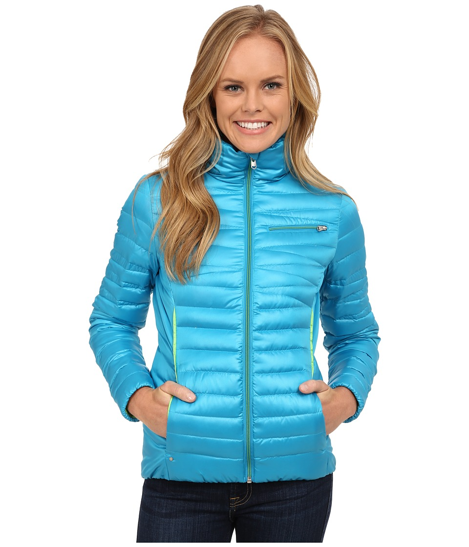 Spyder - Timeless Down Jacket (Riviera/Green Flash) Women's Coat