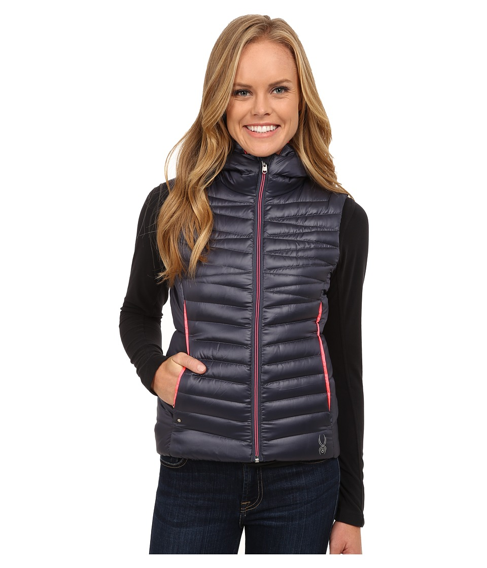 Spyder - Timeless Down Vest (Depth/Bryte Pink) Women