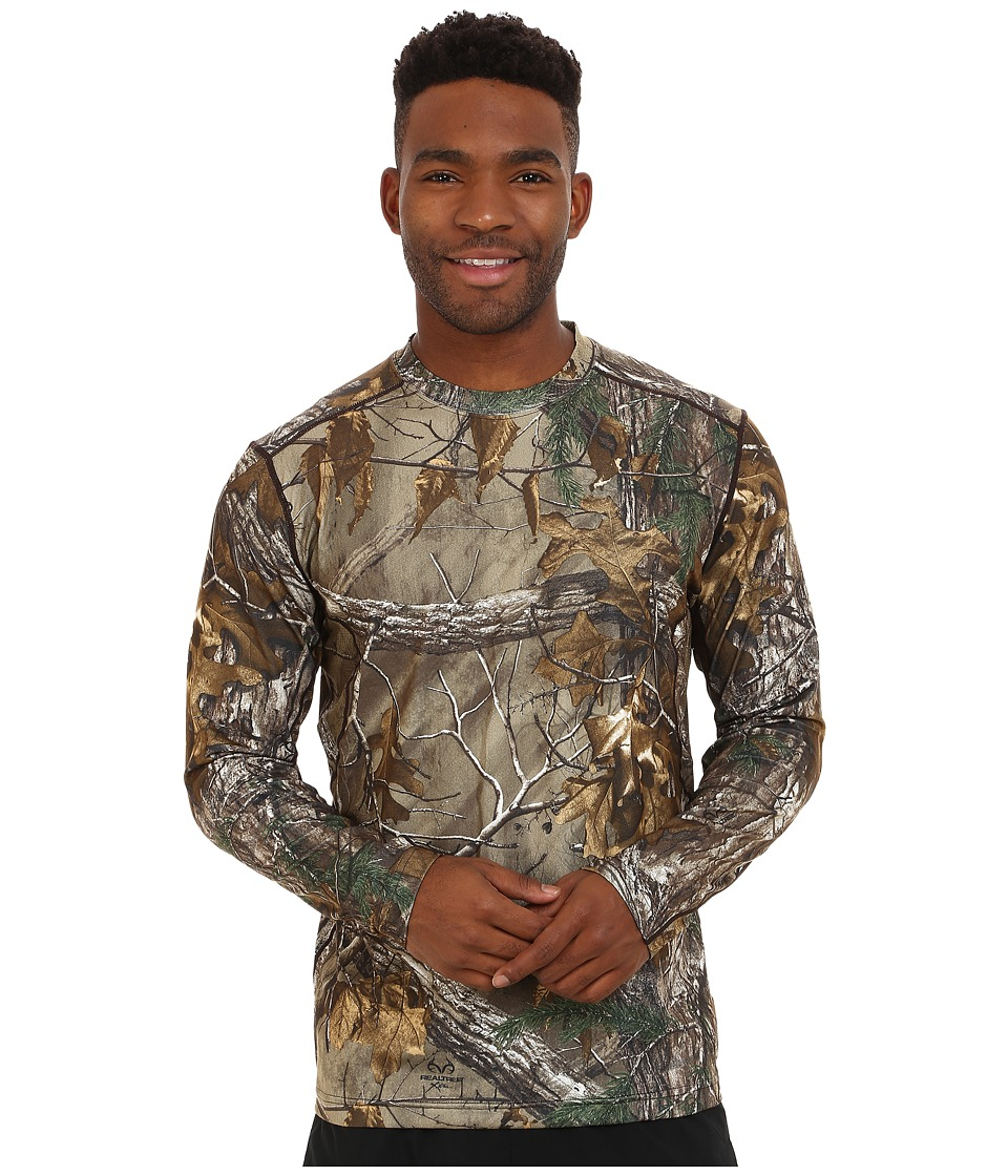 Terramar - 2.0 Stalker Long Sleeve Crew (Realtree Xtra) Men's Long Sleeve Pullover