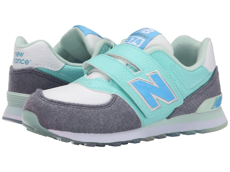 New Balance Kids - KV574 - Deep Freeze (Little Kid/Big Kid) (Arctic Blue/Grey) Boys Shoes