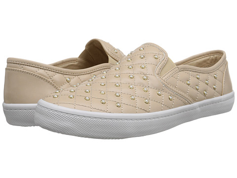 Donald J Pliner - Skyla (Beige Quilted Nappa) Women's Slip on Shoes