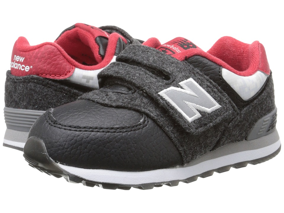 New Balance Kids - 574 - Deep Freeze (Infant/Toddler) (Black/Red) Boys Shoes