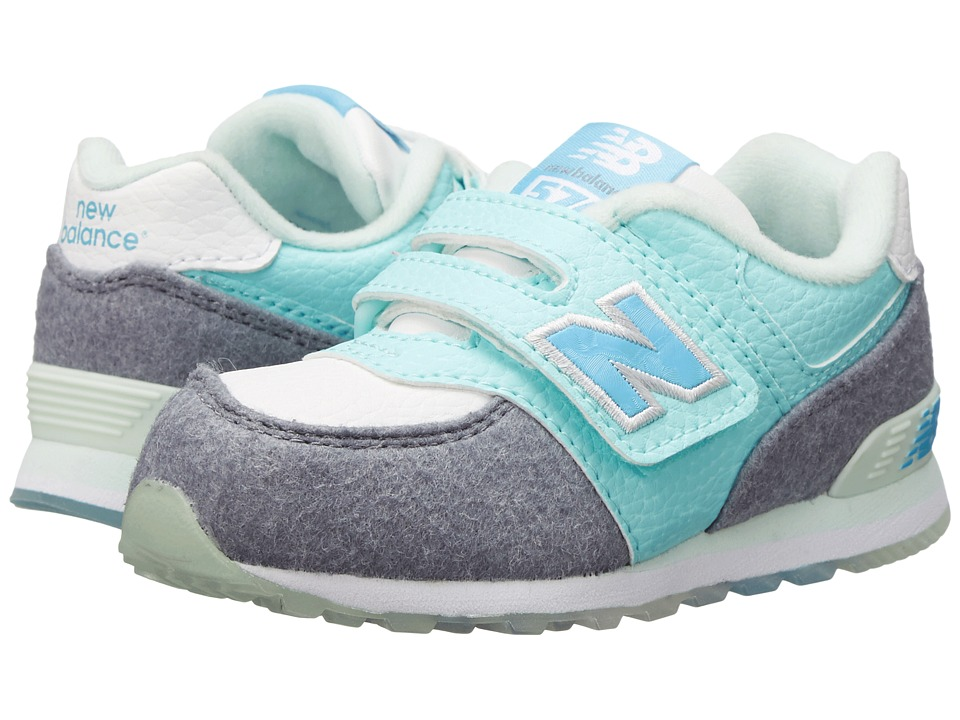 New Balance Kids KG574 (Infant/Toddler) (Arctic Blue/Grey) Boys Shoes