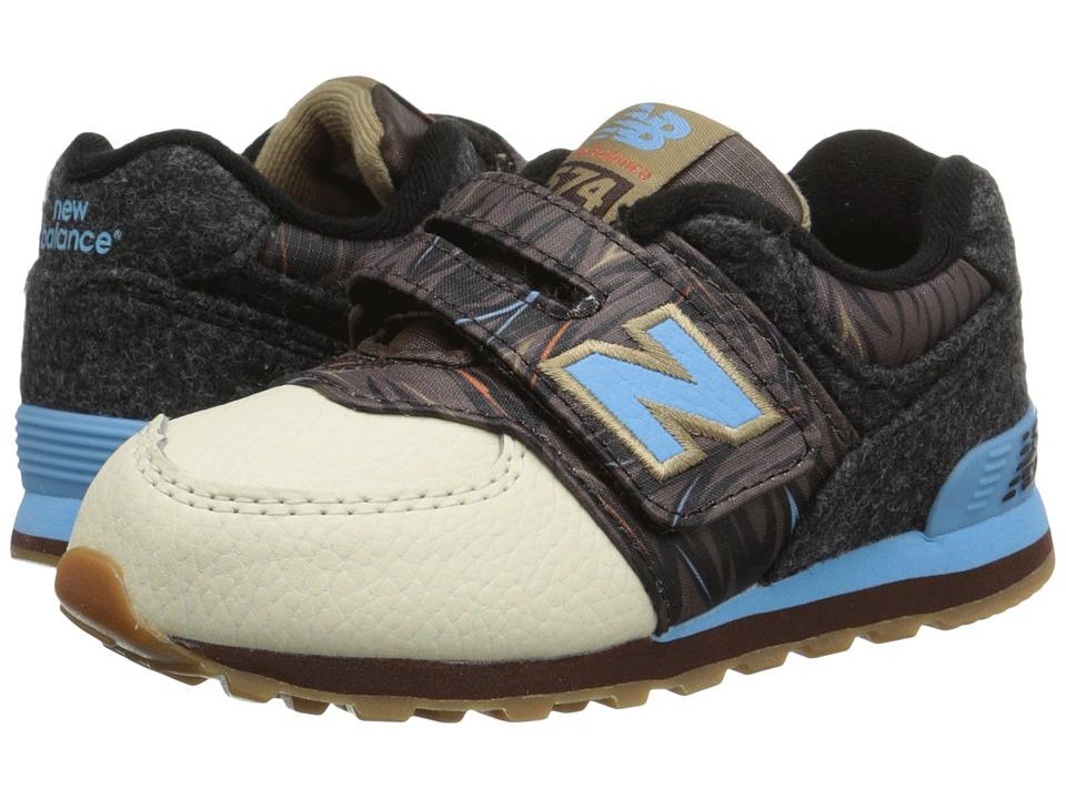 New Balance Kids KG574 (Infant/Toddler) (Brown/Blue 2) Boys Shoes