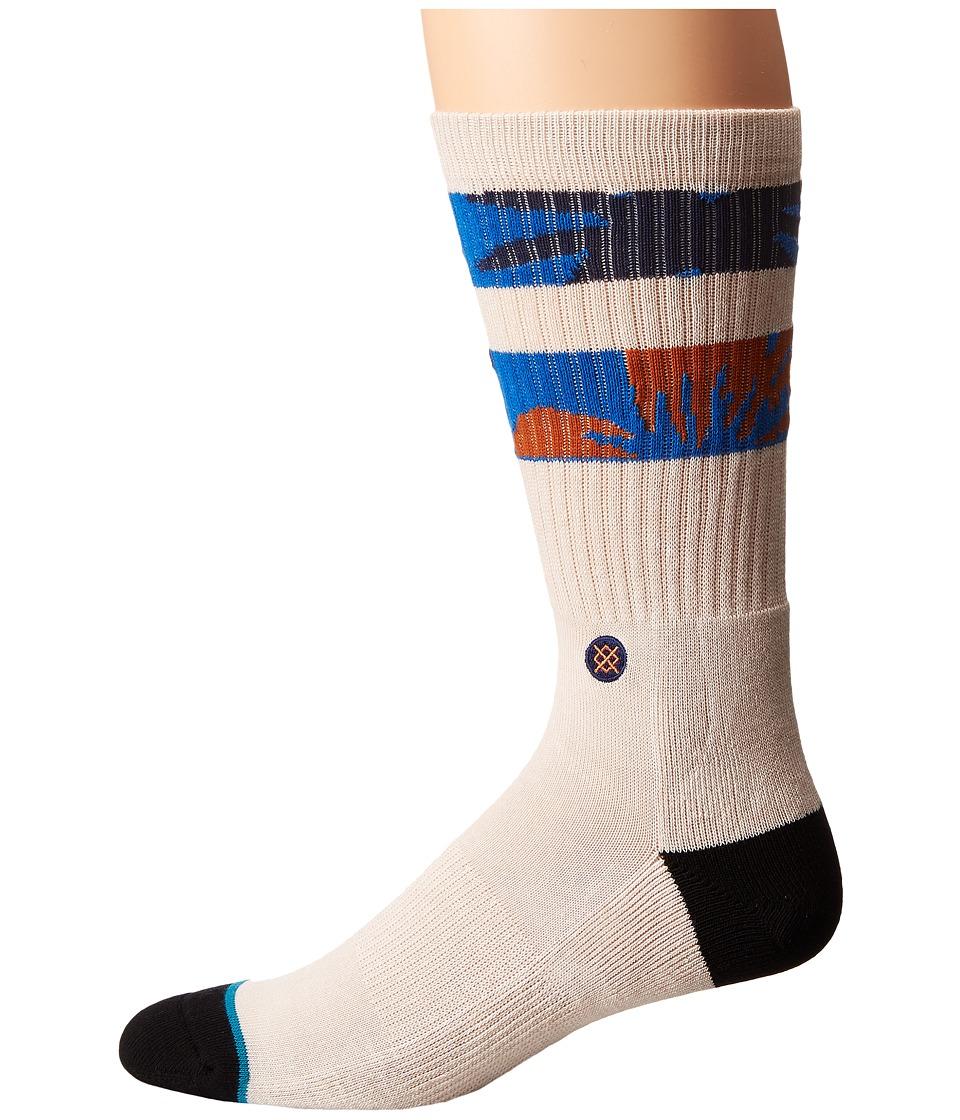Stance - Keenan (White) Men's Crew Cut Socks Shoes